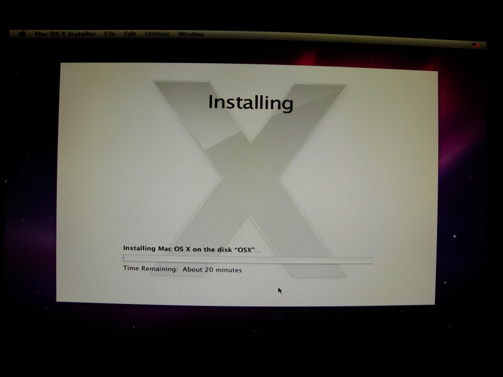 installing process